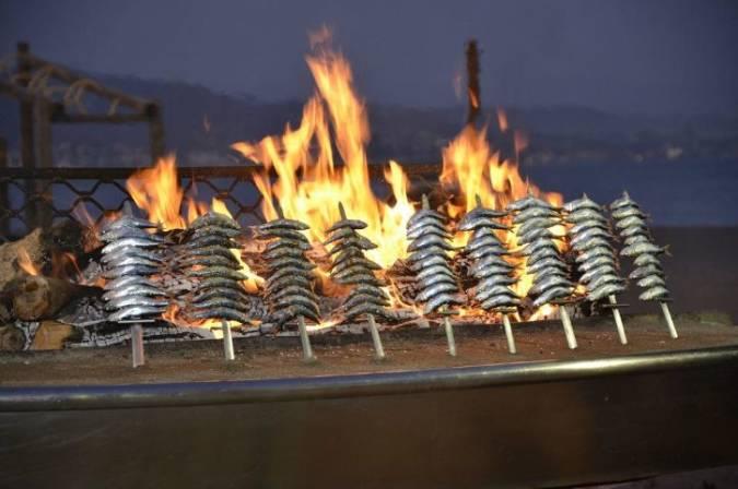 Espetos de sardinas en Málaga