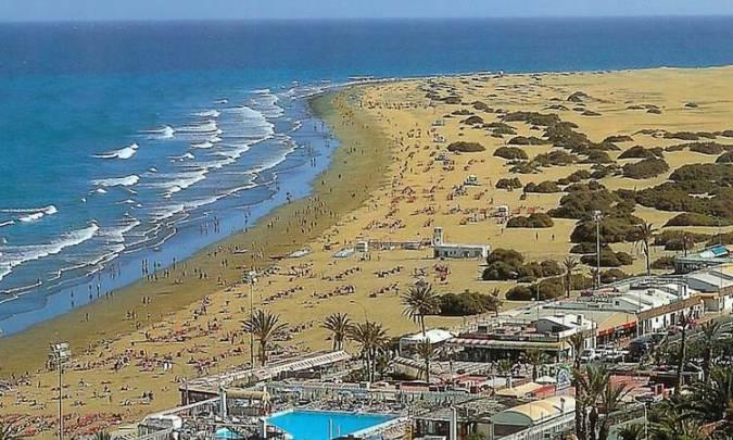 Playa de El Inglés, en Maspalomas