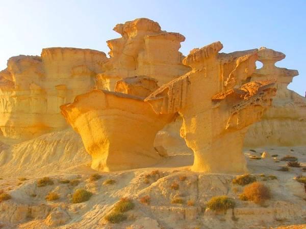 Erosiones de Bolnuevo, en Mazarrón, Murcia