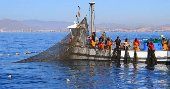 Pescadores en Mazarrón, Murcia