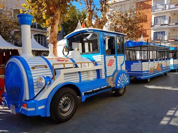 Tren turístico de Nerja, en Málaga