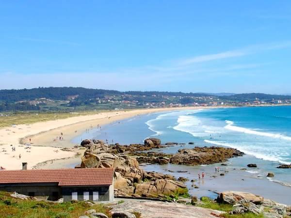 Playa de A Lanzada, en O Grove, Pontevedra