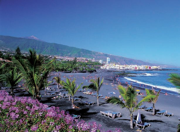 Playa Jardín, en el Puerto de la Cruz
