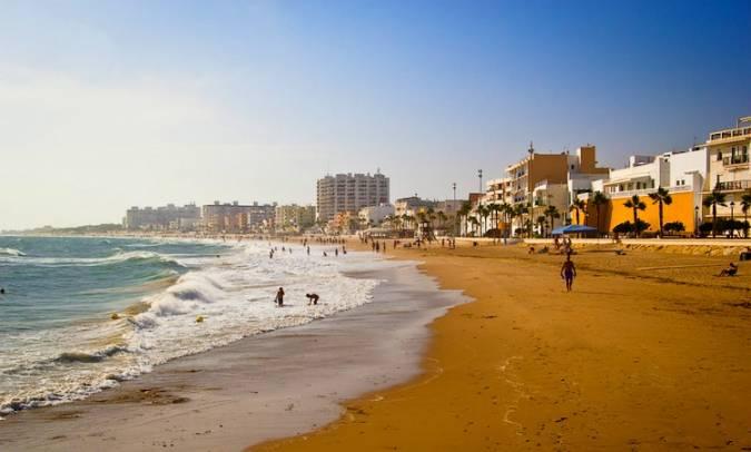Playa de la Costilla, en Rota, Cádiz