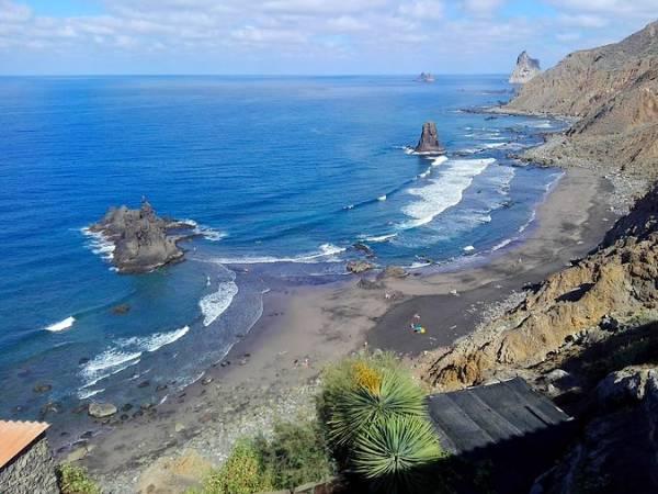 Playa de Almáciga, en Santa Cruz de Tenerife