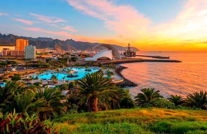 Santa Cruz de Tenerife, en las Islas Sanarias
