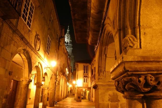 Rúa do Vilar, en Santiago de Compostela
