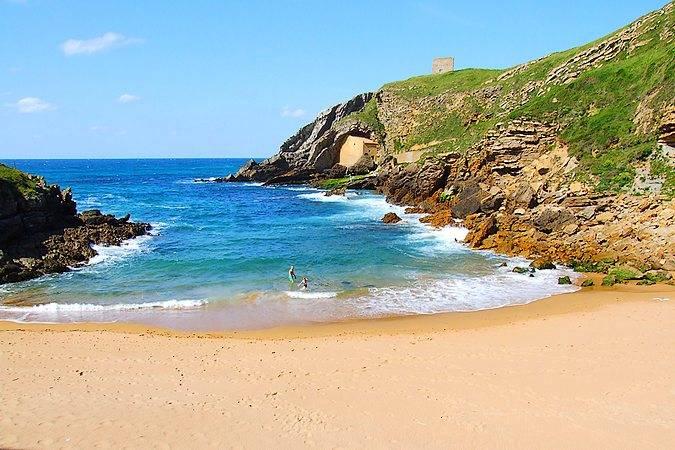 Playa de Santa Justa, en Santillana del Mar