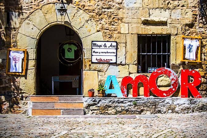 Tienda en Santillana del Mar, en Cantabria