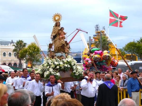 Fiestas de la Virgen del Carmen de Santurzi, en Vizcaya