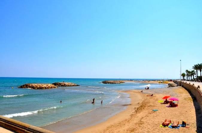 Playa de Terramar, en Sitges