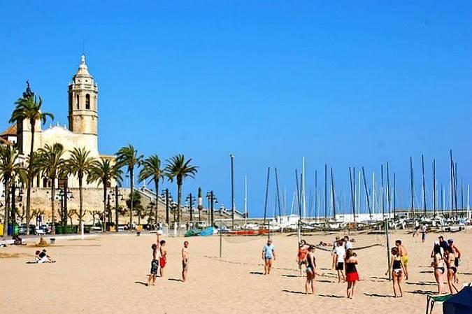 Playa de la Fragata, en Sitges