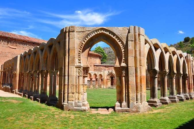 Claustro del Monasterio de San Juan de Duero, en Soria