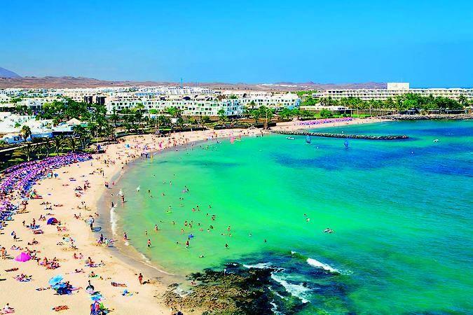 Playa de las Cucharas, en Costa Teguise, Lanzarote