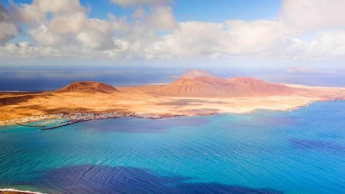 La isla de La Graciosa, en las Islas Canarias