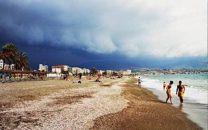 Playa de Torre del Mar, en Málaga