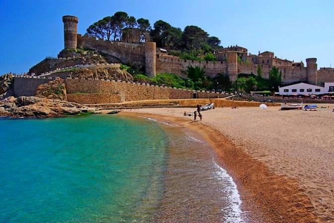 La Platja Gran, en Tossa de Mar, Girona
