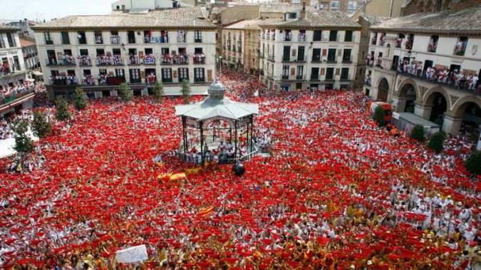 Fiestas de Tudela, en la Plaza de los Fueros