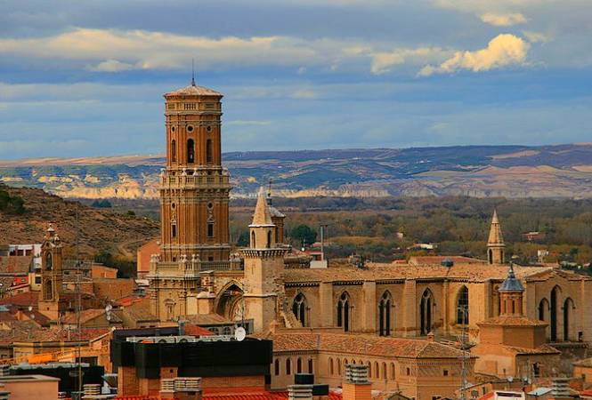 La ciudad de Tudela, en Navarra