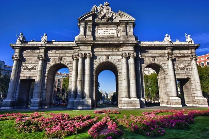 La Puerta de Alcalá, en Madrid