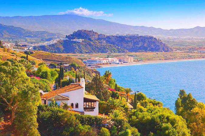 La localidad de Salobreña, en Granada