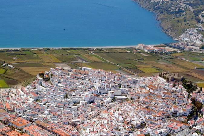 Vista aérea de Salobreña, en Granada