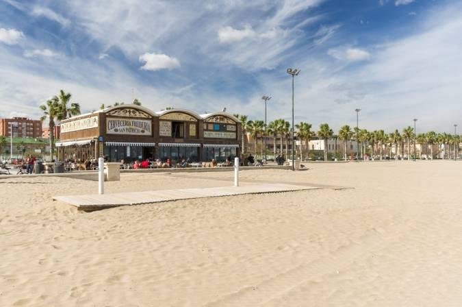 Playa de la Malvarrosa, en Valencia