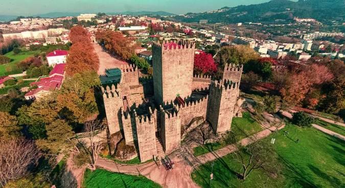 Panorámica de Guimarães, en Portugal