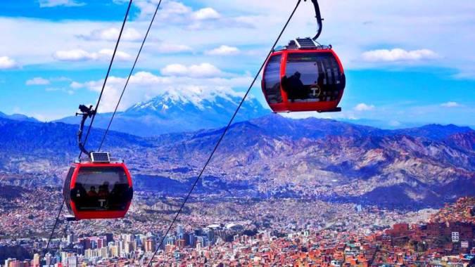 Mi Teleférico, en la ciudad de La Paz, en Bolivia