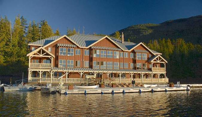 King Pacific Lodge, un hotel flotante en Canadá