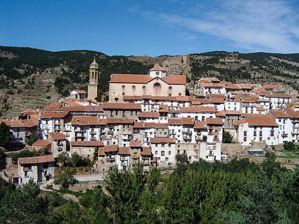 Linares de Mora, en la turolense sierra de Gúdar