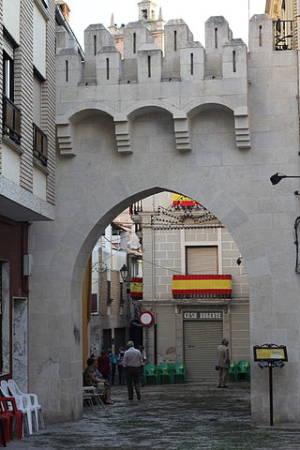 Puerta de la muralla, en Utiel, Valencia