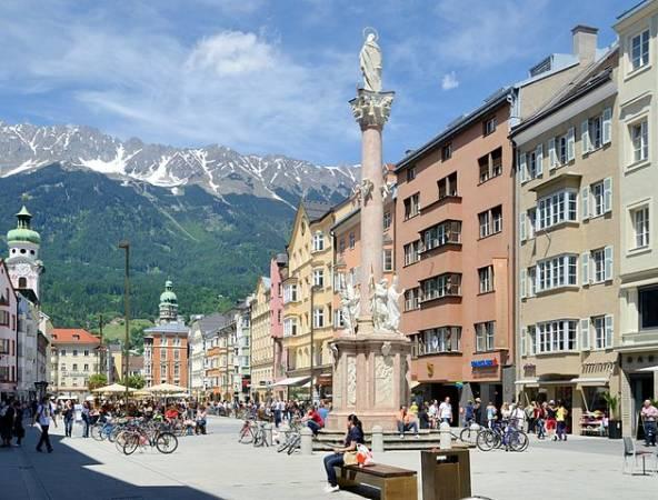 La ciudad de Innsbruck, en Austria