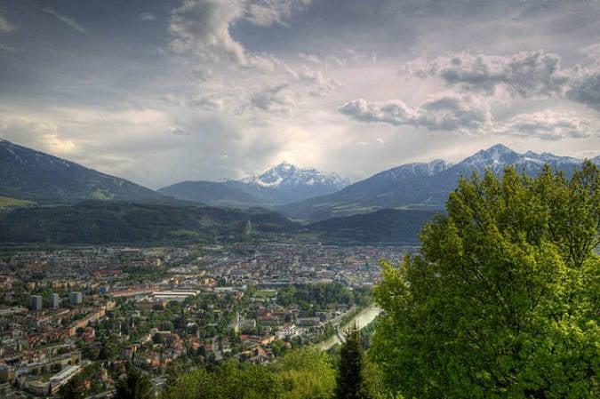 Panorámica de Innsbruck, en Austria