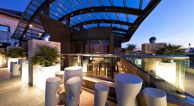 Terraza del Hotel Urban de Madrid