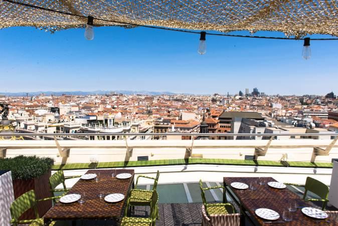 Terraza Tartan-Roof, en la azotea del Círculo de Bellas Artes