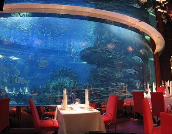 Restaurante Al Mahara, en el Hotel Burj al Arab, en Dubai