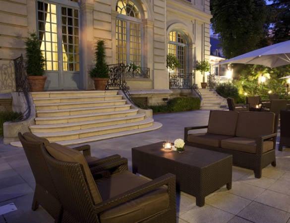 Terraza del Hotel Santo Mauro, en Madrid