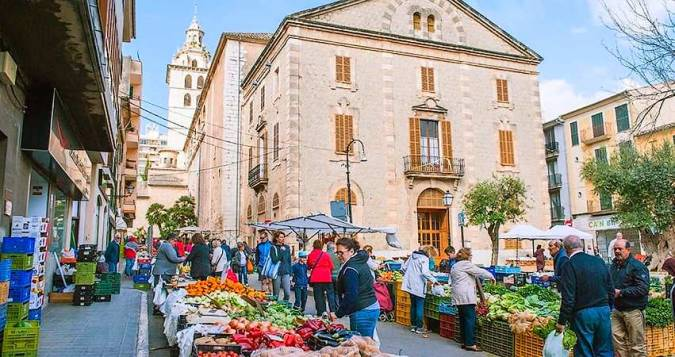 Mercado de los jueves en Inca, Mallorca