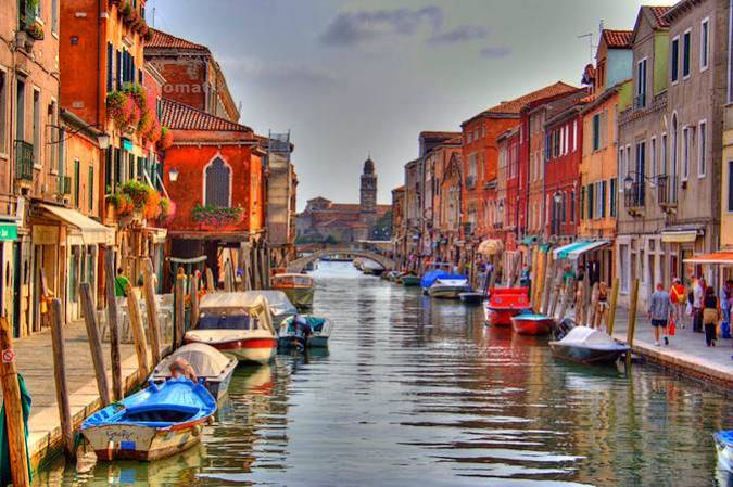La isla de Murano, en Venecia