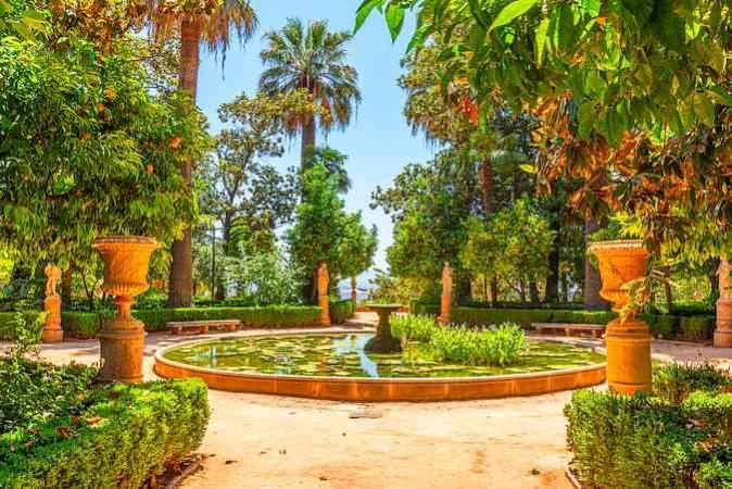 El Jardín Carmen de los Mártires, en Granada