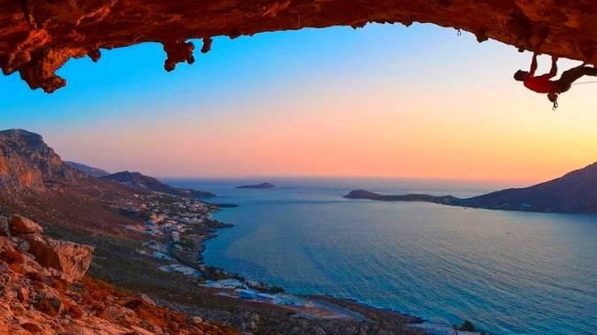 Escalar en Kalymnos, Grecia