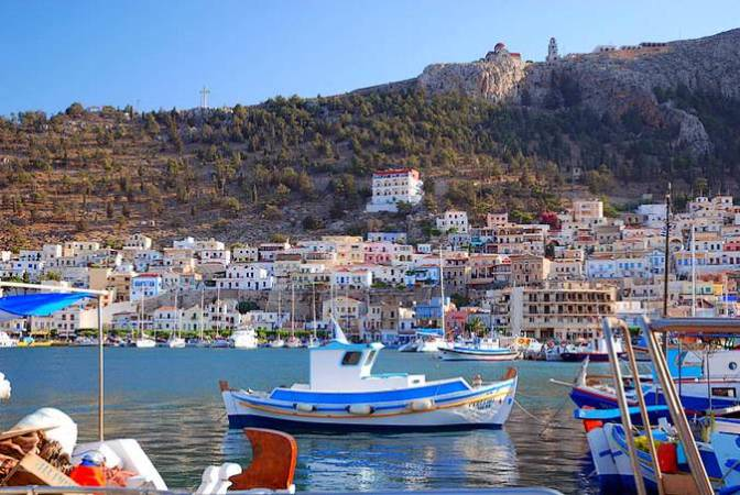 La isla de Kalymnos, en Grecia
