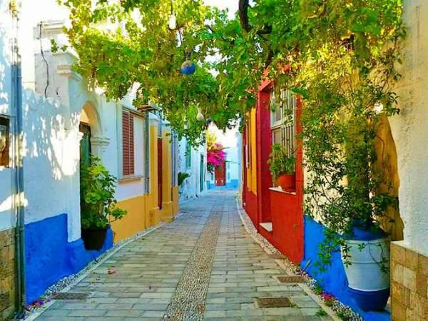 Koskinou, en la isla de Rodas, Grecia