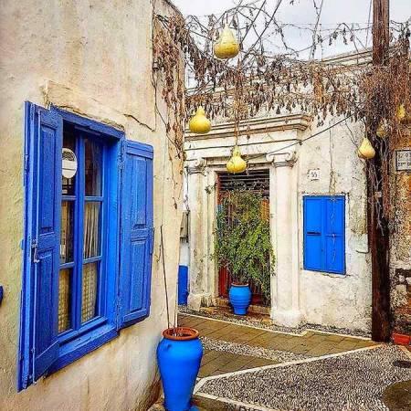 Un rincón de Koskinou, en Rodas, Grecia
