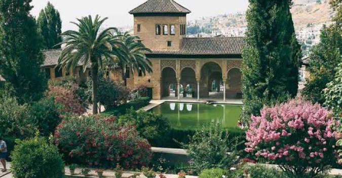 Jardines del Generalife, en la Alhambra de Granada