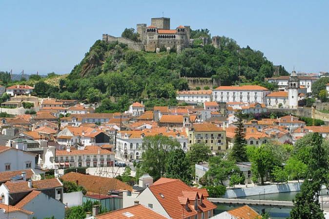 La antigua ciuada de Leiria, en Portugal