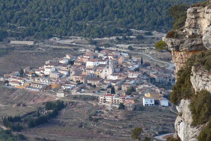 La bella población catalana de Capafonts, en Tarragona