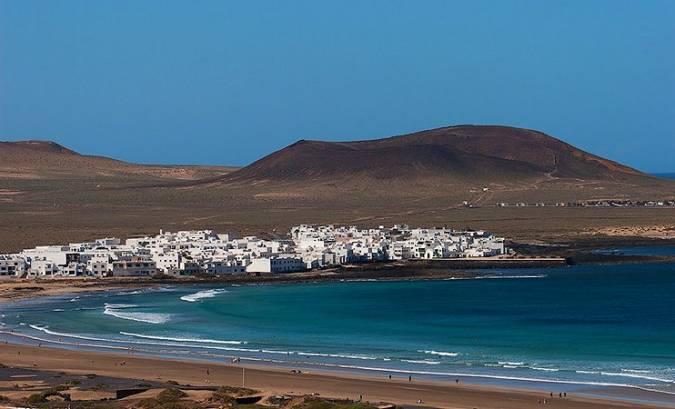 La Caleta de Famara, en la isla de Lanzarote