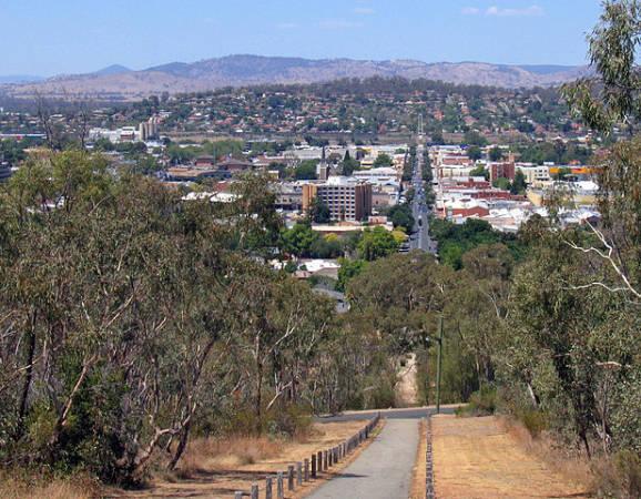 La ciudad de Albury, en Nueva Gales del Sur